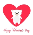 Arctic polar bear cub Cute cartoon character vector image vector image