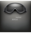 Background of black goggles vector image vector image