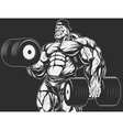 Bodybuilder with dumbbell vector image vector image