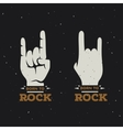 Born to rock vintage poster vector image vector image