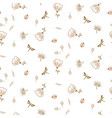 botanical seamless pattern for textile vector image
