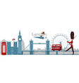 british london symbols concept vector image vector image