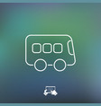 bus icon - thin series vector image vector image