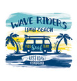 california long beach kids surfing team vector image vector image