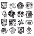 Car and biker culture badges vector image vector image