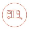 Caravan line icon vector image vector image