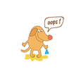 cartoon dog with thought bubble vector image vector image