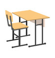 cartoon school desk icon isolated vector image vector image