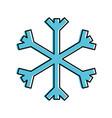 christmas snowflake snow decoration winter symbol vector image