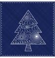 Christmas treebackground vector image vector image