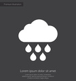 cloud rain premium icon white on dark background vector image