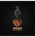 coffee bean logo love concept background vector image vector image