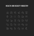 collection linear icons health and beauty