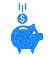 deposit piggy bank icon grunge watermark vector image