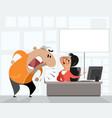 disturbed man in office vector image vector image