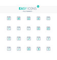 easy icons 39e file formats vector image vector image