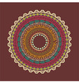 Ethnic Aztec circle ornament vector image