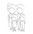 family stand up vector image vector image