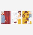 fashion woman outfit banner vector image vector image