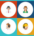 flat center set of call center help vector image vector image