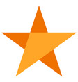 flat star icon with beveled effect simple dutone vector image
