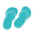 flip flops beach icon vector image vector image
