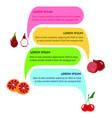 food infographic bacgkround vector image