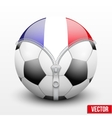 France symbol inside football ball vector image vector image
