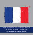 french flag flat - artistic brush strokes vector image vector image