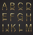 Golden Letters with Diamonds vector image