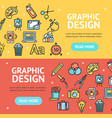 graphic design signs banner horizontal set vector image vector image
