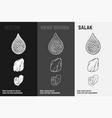 hand drawn salacca salak fruit sketch set vector image