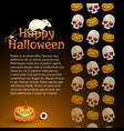 happy halloween background designed ornament vector image vector image