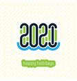 happy holidays and vacations 2021 held at sea vector image