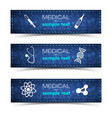 healthcare banners set vector image