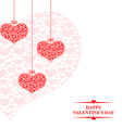 hearts card hanging vector image vector image