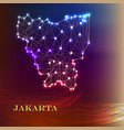 high quality map of jakarta is a city of vector image vector image