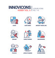 hoband activities - line design style icons set vector image vector image
