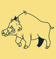 Hogs Line Art vector image