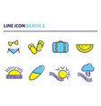 icon beach set 2 vector image