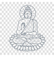 icon buddha silhouette vector image vector image