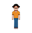 isolated hipster cartoon character vector image vector image