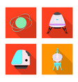 isolated object of mars and space logo collection vector image