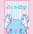 its a boy baby shower card vector image