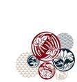 japanese chinese design flower circle geometric vector image