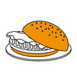 junk food design vector image