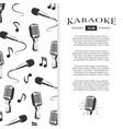 karaoke club brochure design - musical banner vector image vector image