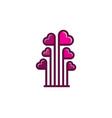 love logo icon design vector image vector image