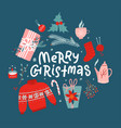 merry christmas concept new year toys gifts vector image vector image