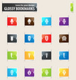 microphone bookmark icons vector image vector image